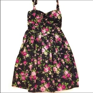 No Boundaries Floral Halter Style Dress